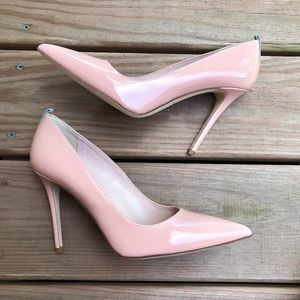 SJP Fawn Pink Patent leather pointed toe Pumps